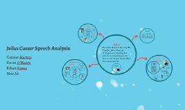 Julius Caesar Speech Analysis