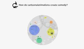 How do cartoons/animations create comedy
