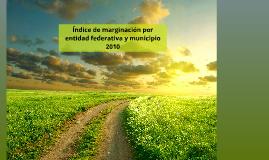 Índice de marginación por entidad federativa y municipio 2010