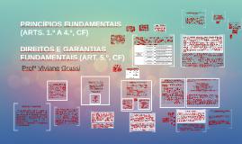 PRINCÍPIOS FUNDAMENTAIS (ARTS. 1.º A 4.º, CF)