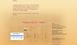 Product launch: