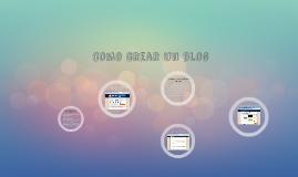 Como se crea un blog