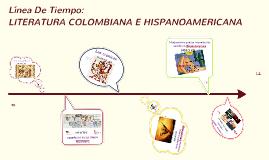 LITERATURA COLOMBIANA E HISPANOAMERICANA
