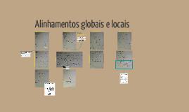 Primeiro contato com alinhamentos globais e locais
