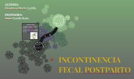 INCONTINENCIA FECAL POSTPARTO