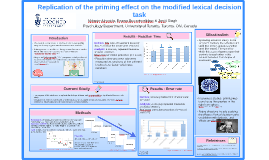 Copy of PRIMING EFFECT ON THE MODIFIED LEXCIAL DECISION TASK