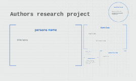 Authors research project