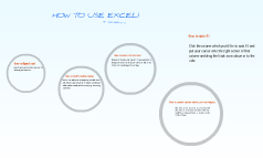 HOW TO USE EXCEL!