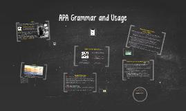 APA Grammar