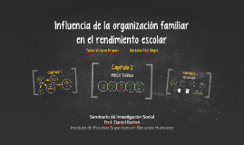 Influencia de la organización familiar