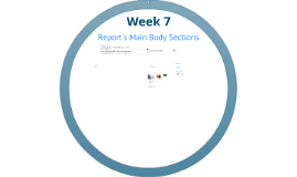 Report: Main Body Sections