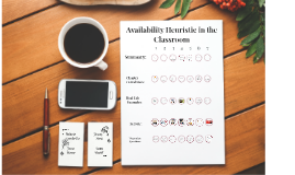 Availability Heuristic in the Classroom