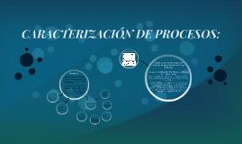 Copy of CARACTERIZACIÓN DE PROCESOS: