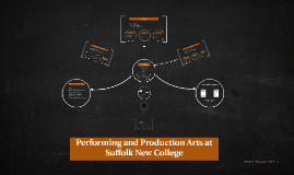 Copy of Copy of Performing and Production Arts at Suffolk New College