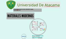 Copy of Materiales Modernos
