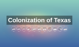 Colonization of Texas