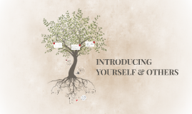 INTRODUCING YOURSELF & OTHERS