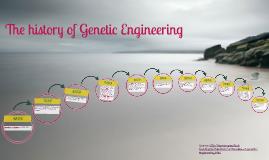 The history of Genetic Engineering