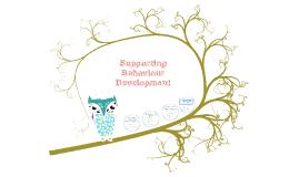 Supporting Behaviour Development