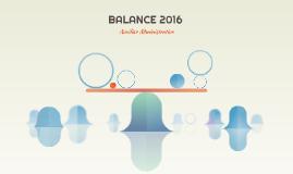BALANCE 2016