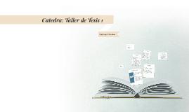 Copy of Taller de Tesis