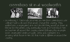 Greensboro Sit In At Woolworth's