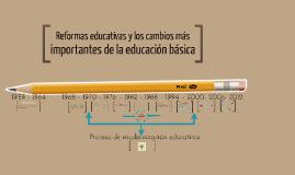 Copy of Línea del tiempo: Reformas educativas