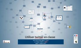 Utilier le réseau socialTwitter en classe, animation pédagogique