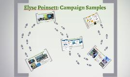 Elyse Poinsett: Campaign Samples