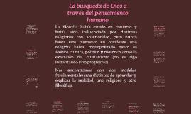 La búsqueda de Dios a través del pensamiento humano