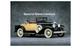 General Motors bailout