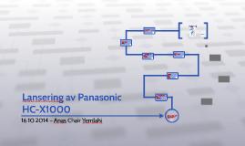 Lansering av Panasonic  HC-X1000