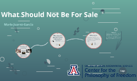 What Should Not Be For Sale