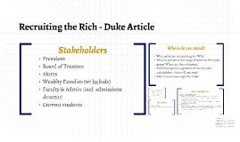 Recruiting the Rich - Duke Article