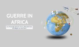 Progetto interdisciplinare sui conflitti contemporanei: l'Africa