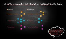 La différence entre les études en Suisse et au Portugal