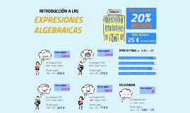 Introducción a las expresiones algebraicas