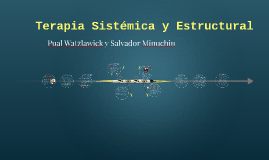 Terapia Sistemica y Estructural