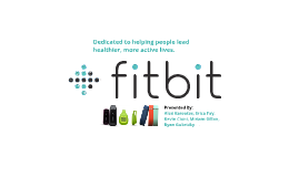 Fitbit Presentation 2: Product & Pricing