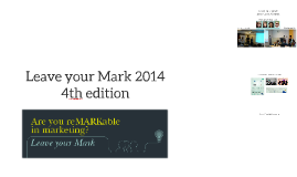 Leave your Mark 2014