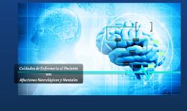 Cuidados de Enfermeria en el paciente con Afecciones Neurologicas