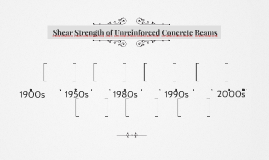 Shear Strength of Unreinforced Concrete Beams