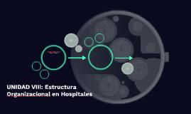 UNIDAD VIII: Estructura Organizacional en Hospitales