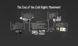The End of the Civil Rights Movement