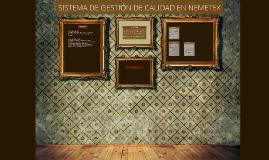 SISTEMA DE GESTIÓN DE CALIDAD EN NEMETEX