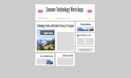 Summer Technology Workshops