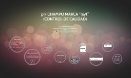"pH CHAMPÚ MARCA ""Jayt"""