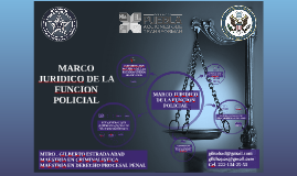 Copy of MARCO JURIDICO DE LA FUNCION POLICIAL