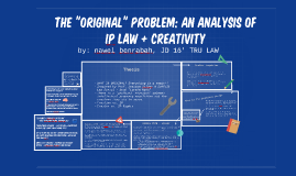 The Original Problem: An Analysis of IP Law + Creativity
