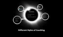 Styles of Coaching